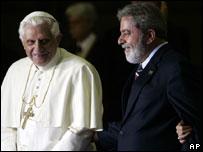 Lula e o Bento XVI